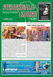 Ausgabe 1034 - Steigerwald-Kurier