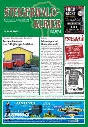 Ausgabe 1043 - Steigerwald-Kurier