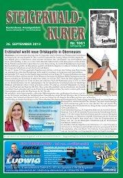 Ausgabe 1061 - Steigerwald-Kurier