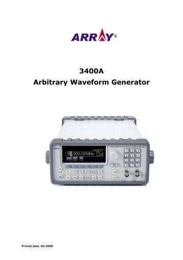 3400A Arbitrary Waveform Generator