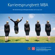 Broschüre MBA - School of International Business and ...