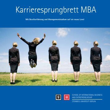 Broschüre MBA - School of International Business and ...