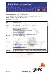 Einladung mit Anmeldeformular + Anfahrt SIBE-Fußballturnier 2013