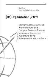 (Re)Organisation jetzt! - School of International Business and ...