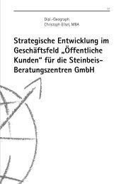 """Strategische Entwicklung im Geschäftsfeld """"Öffentliche Kunden"""" für ..."""