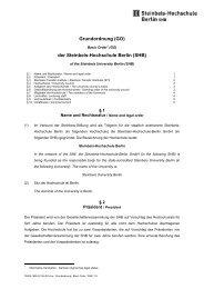 Grundordnung (GO) der Steinbeis-Hochschule Berlin (SHB)