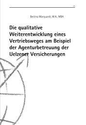 Die qualitative Weiterentwicklung eines Vertriebsweges am Beispiel ...