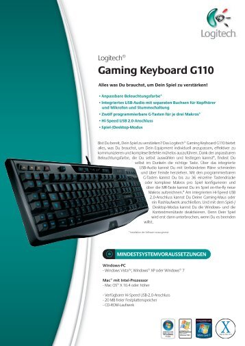 Gaming Keyboard G110