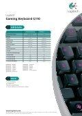 Gaming Keyboard G110 - Page 2