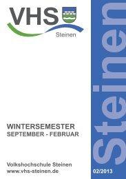 VHS-Programm (PDF) - Steinen