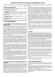 Liefer- und Zahlungsbedingungen HWI - Carl Steiner