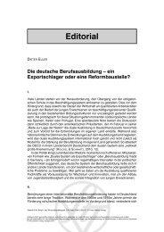 Die deutsche Berufsausbildung - ein Exportschlager oder eine ...