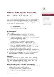 Merkblatt für Autoren und Herausgeber - Franz Steiner Verlag