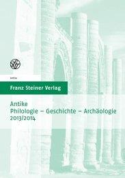 Antike Philologie – Geschichte – Archäologie 2013/2014