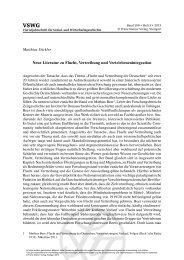 Matthias Stickler Neue Literatur zu Flucht, Vertreibung und ...