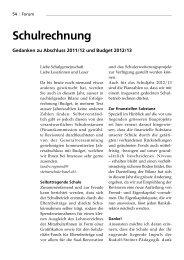 Jahresbericht 2011/12 und Budget 2012/13 - Rudolf Steiner Schule ...