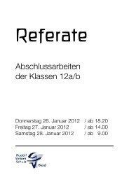 Referate Flyer 2 - Rudolf Steiner Schule Basel