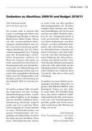 Jahresbericht 2009/10 und Budget 2010/11 - Rudolf Steiner Schule ...