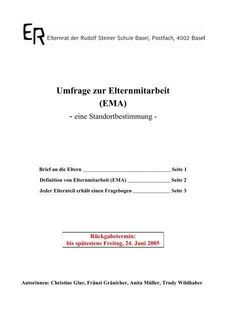 Fragebogen - Rudolf Steiner Schule Basel