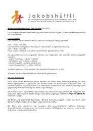 J a k o b s h ü t t l i - Rudolf Steiner Schule Basel
