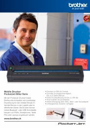 Mobile Drucker PocketJet 600er Serie www.brother.ch - TopD