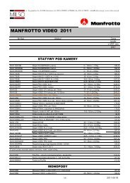 Manfrotto Nord Video Detal 2011 - Milso