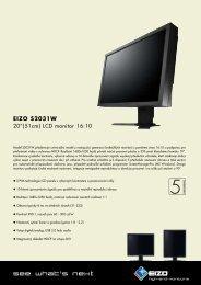 "EIZO S2031W 20""(51cm) LCD monitor 16:10"
