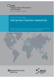 EXECUTIVE MBA VERTIEFUNG STRATEGIC INNOVATION - SCMT