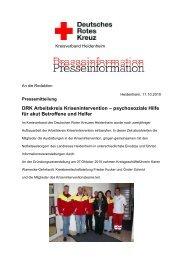 psychosoziale Hilfe für akut Betroffene und Helfer - Drk-Heidenheim