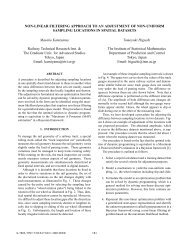 non-linear filtering approach to an adjustment of non-uniform ...