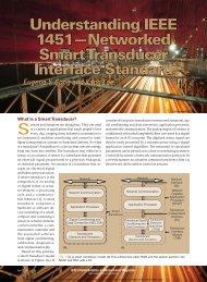 Understanding IEEE 1451—Networked Smart Transducer Interface ...