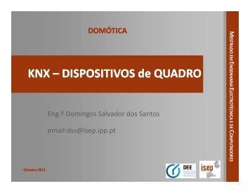 KNX – DISPOSITIVOS de QUADRO DISPOSITIVOS de QUADRO