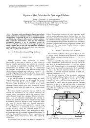 Optimum Gait Selection for Quadruped Robots