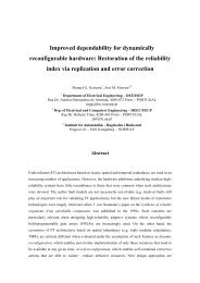 Improved dependability for dynamically reconfigurable hardware ...