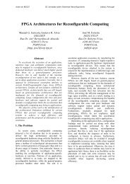 FPGA Architectures for Reconfigurable Computing