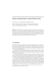 On the Fractional Order Control of Heat Systems