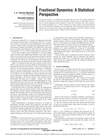 Fractional Dynamics: A Statistical Perspective