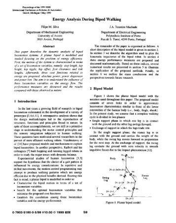 Energy Analysis During Biped Walking - ResearchGate