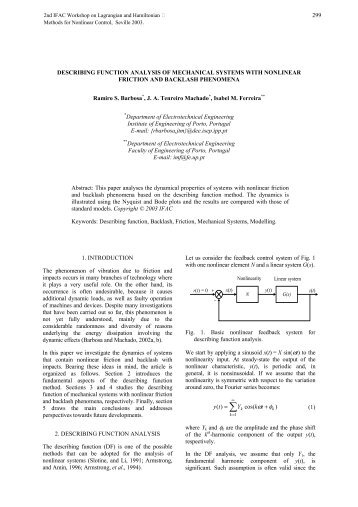 describing function analysis of mechanical systems with nonlinear ...