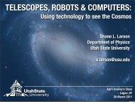 Talk (PDF) - Physics Department - Utah State University