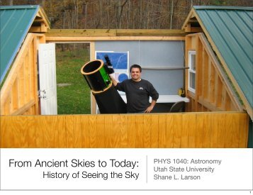 From Ancient Skies to Today: - Utah State University
