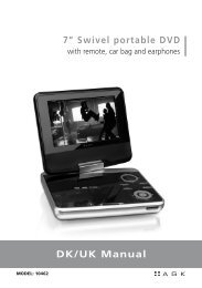 "DK/UK Manual 7"" Swivel portable DVD - Intro AGK Nordic A/S"