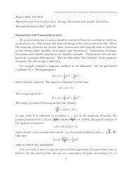 Symmetries and Conservation Laws: Energy, Momentum