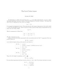 Properties of the Levi-Civita tensor