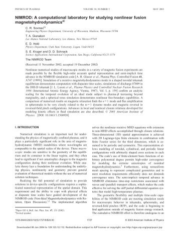 A computational laboratory for studying nonlinear fusion - Physics ...