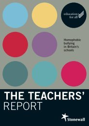 The Teachers' Report - Stonewall