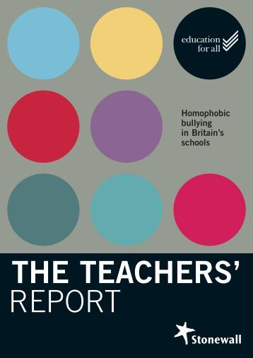 The Teachers' Report - Stonewall