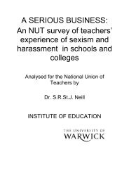 A SERIOUS BUSINESS: An NUT survey of teachers ... - Schools Out