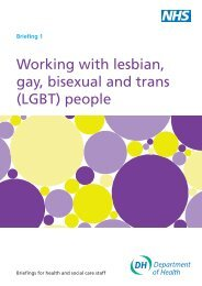 Reducing health inequalities for LGBT: Briefing 1 - Schools Out