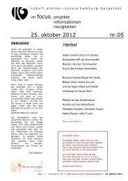 Auslandsaufenthalt 2003 in Frankreich - Rudolf Steiner Schule in ...